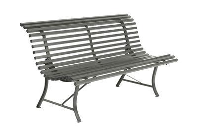 Outdoor - Bänke - Louisiane Bank mit Rückenlehne / L 150 cm - Metall - Fermob - Rosmarin - Stahl, verzinkt