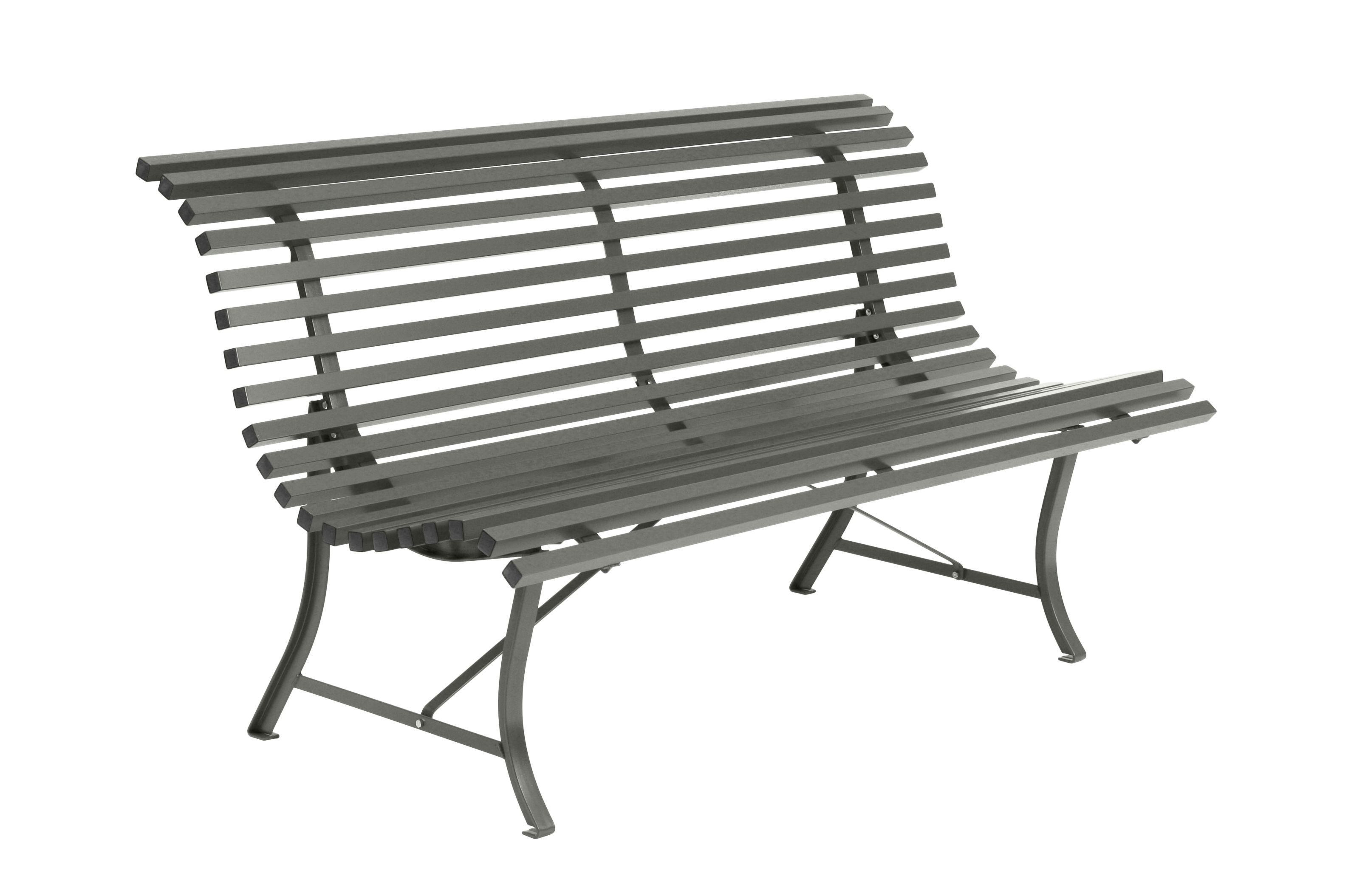 Outdoor - Benches - Louisiane Bench with backrest - / L 150 cm - Metal by Fermob - Rosemary - Electro-galvanized steel