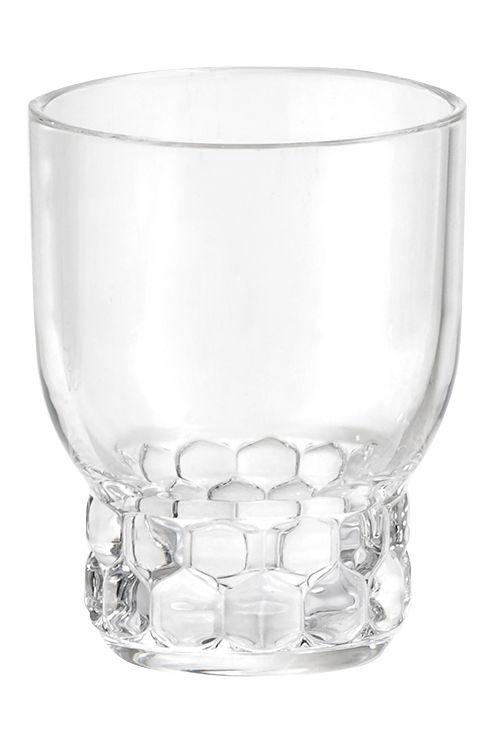 Tavola - Bicchieri  - Bicchiere Jellies Family - / Medium - H 11 cm di Kartell - Cristallo - PMMA