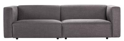 Canapé droit Match / 3 places - L 240 cm - Prostoria Ltd gris foncé en tissu