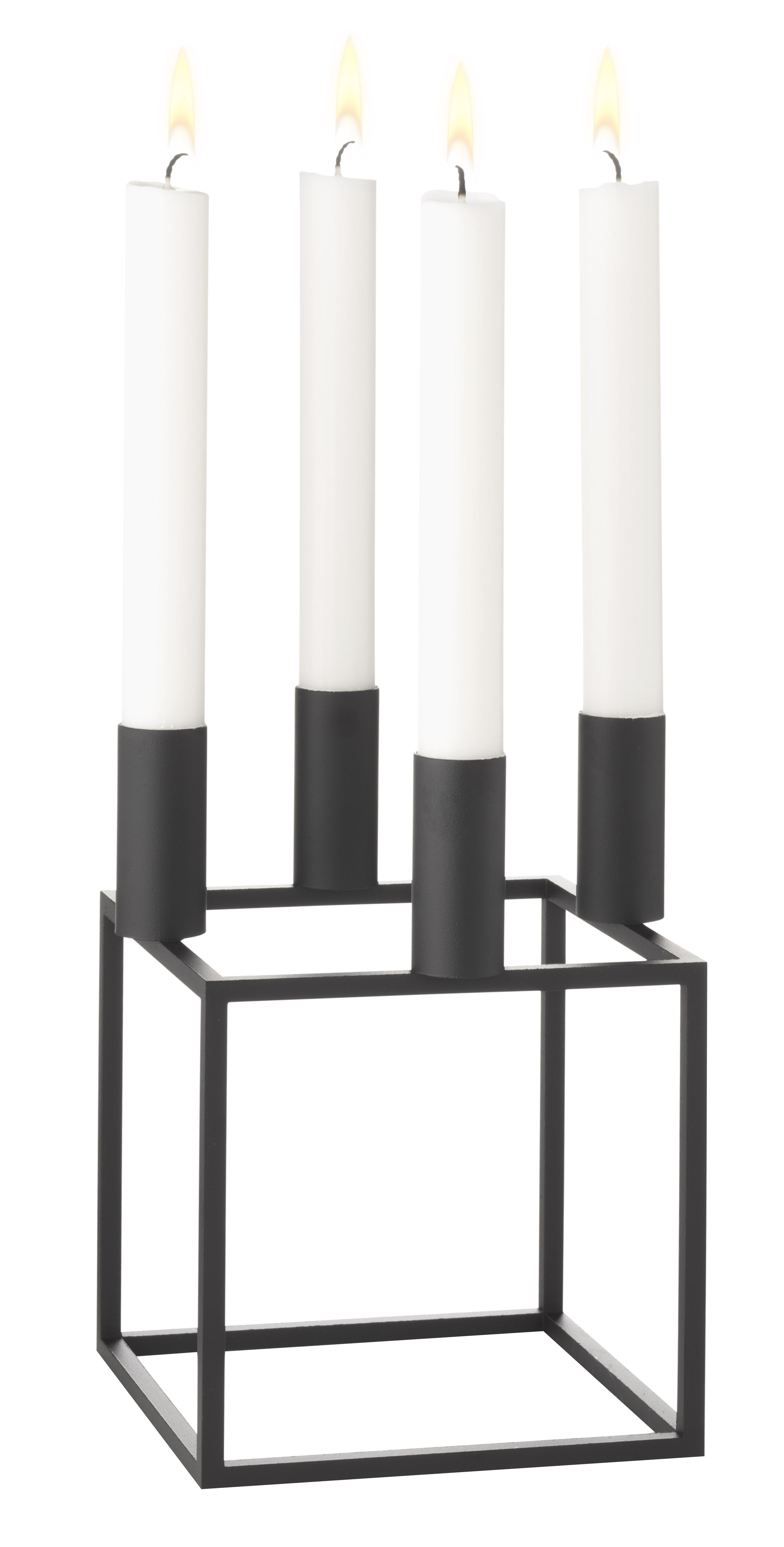 Decoration - Candles & Candle Holders - Kubus 4 Candelabra - Reissue 1962 by by Lassen - Black - Lacquered steel