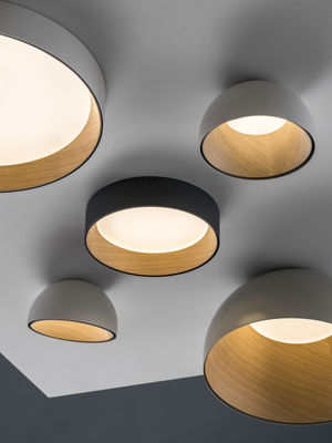 Duo Led Ceiling Light Inclined ø 35 Cm By Vibia