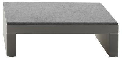 Möbel - Couchtische - Bellini Hour Couchtisch - Serralunga - Elfenbeinfarbener Unterbau / Tischplatte aus bläulichem Granit - Laminat, Polyäthylen