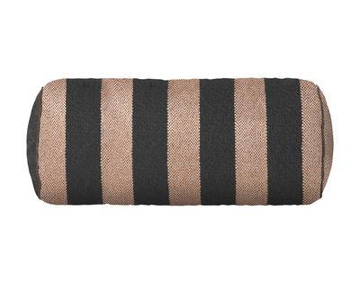 Decoration - Cushions & Poufs - Salon - Bengal Cushion - / Ø 16 x L 41 cm by Ferm Living - Pink & black - Mixed-fibre