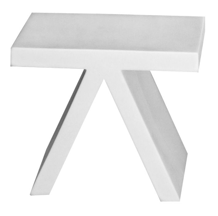 Furniture - Coffee Tables - Toy End table by Slide - White - recyclable polyethylene