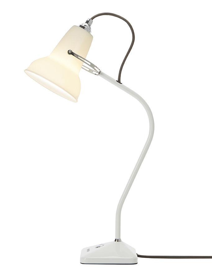 Luminaire - Lampes de table - Lampe de table Original 1227 Mini / Porcelaine - Fixe - Anglepoise - Blanc - Acier laqué, Fonte, Porcelaine