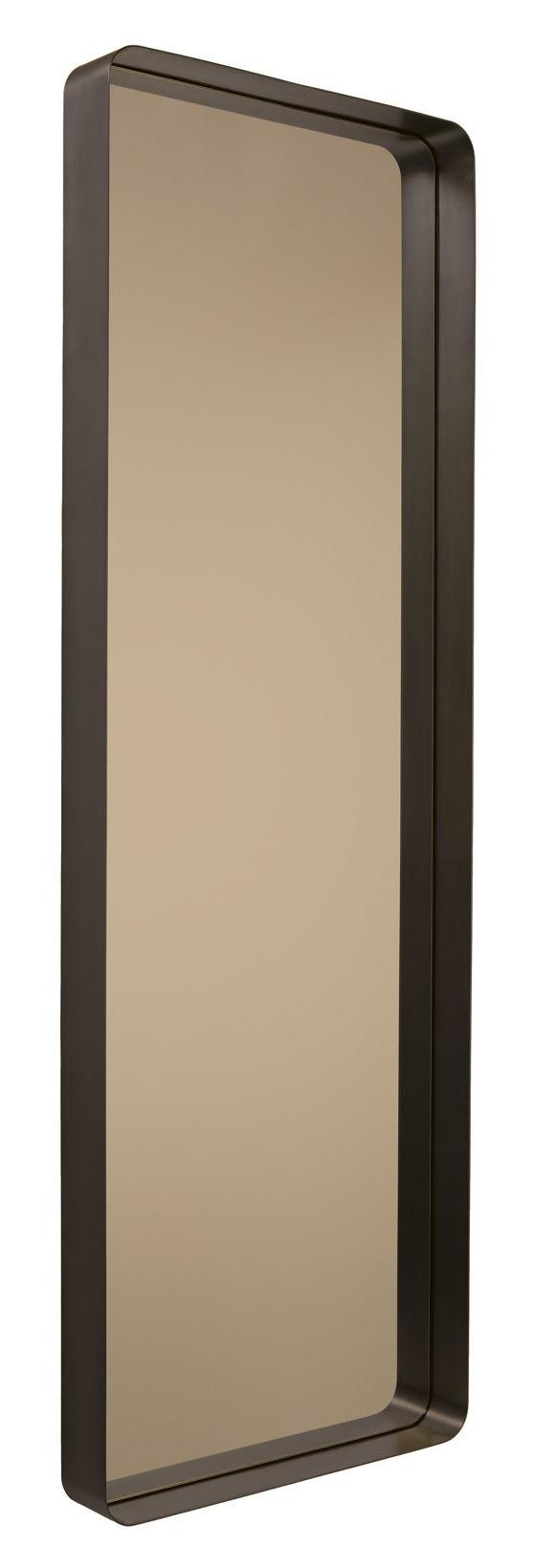 Déco - Miroirs - Miroir Cypris / à poser ou suspendre - 60 x 180 cm - ClassiCon - Brun / Miroir bronze - Laiton massif bruni, Verre fumé