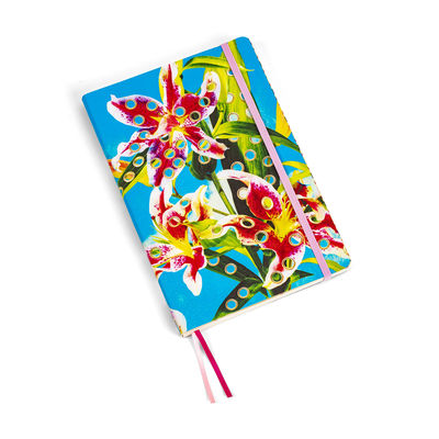 Accessories - Pens & Notebooks - Toiletpaper Notepad - / Flowers - Large 21 x 14 cm by Seletti - Flowers, - Ivory paper, Polyurethane