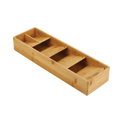Cucina - Pulizia - Organizzatore per ustensili DrawerStore Bamboo - / Per coperti - 12,2 x 39,8 cm di Joseph Joseph - Bambù - Bambù