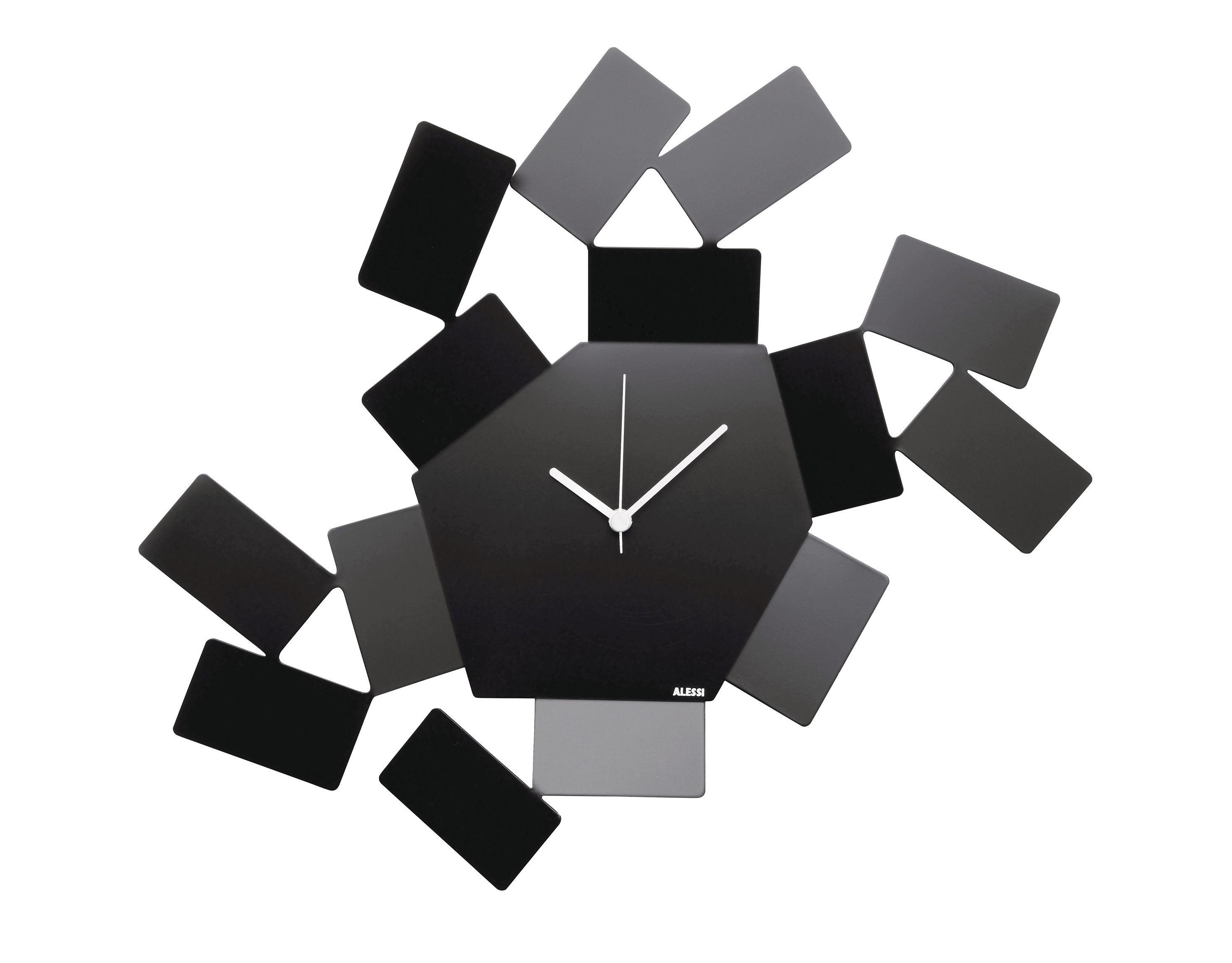 Interni - Orologi  - Orologio a parete La Stanza dello Scirocco / L 46 x H 33,5 cm - Alessi - Nero - Acciaio