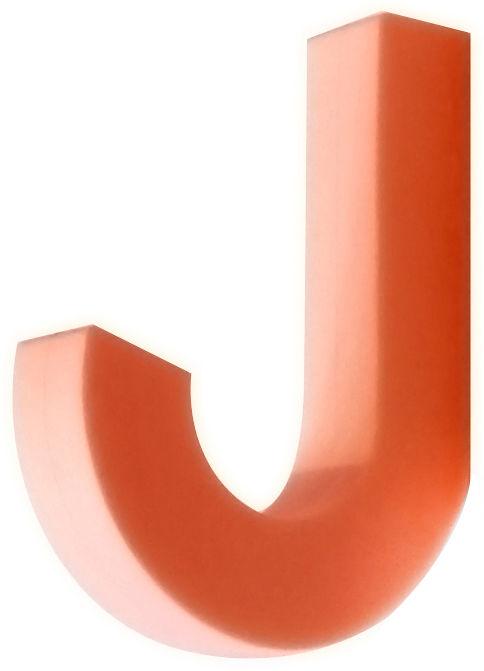 Mobilier - Portemanteaux, patères & portants - Patère Gumhook souple - Pa Design - Orange - Silicone
