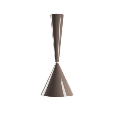 Leuchten - Pendelleuchten - Diabolo Pendelleuchte / Achille Castiglioni, 1998 / H 95 cm - Flos - Taupe-braun - bemaltes Aluminium