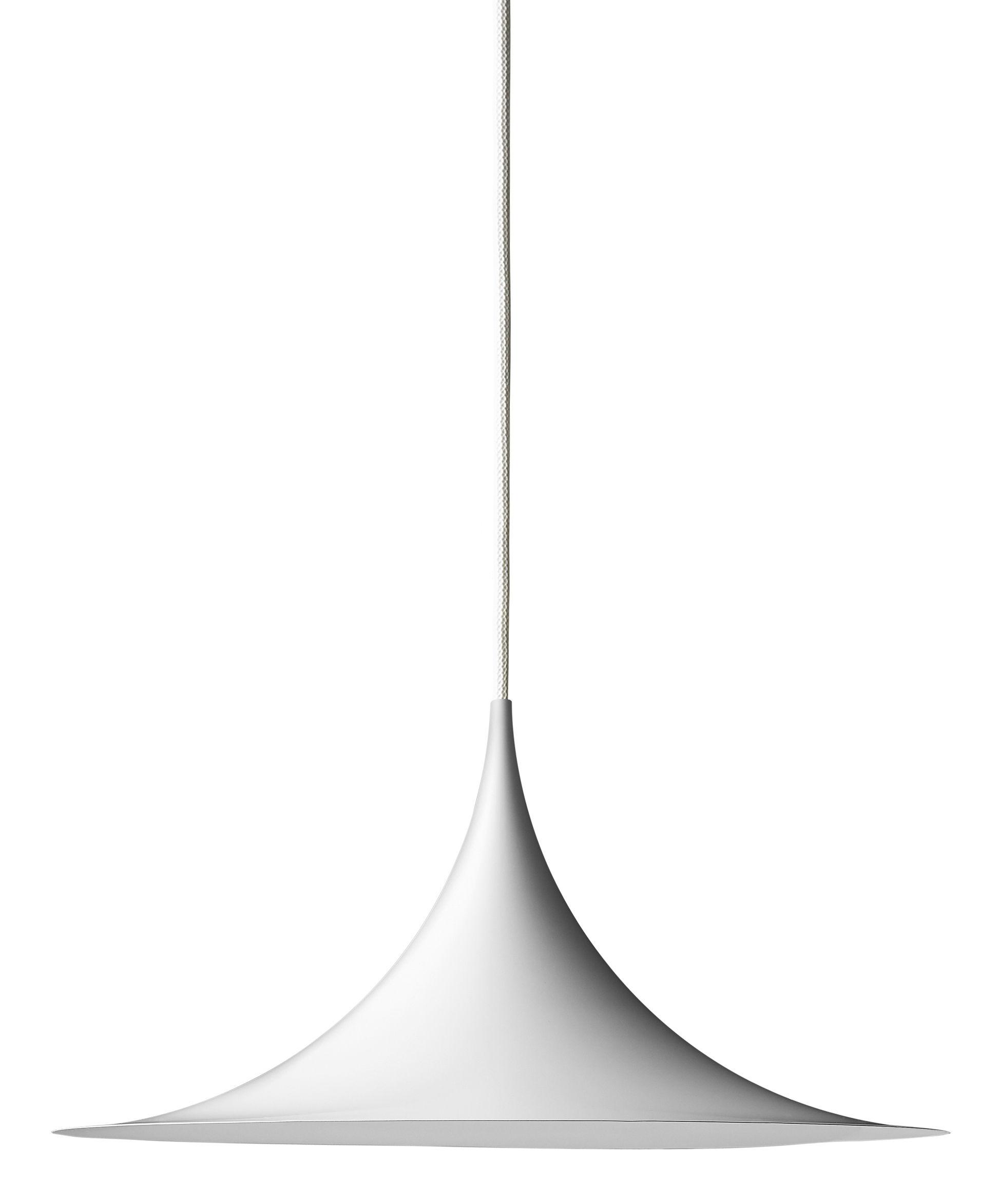 Leuchten - Pendelleuchten - Semi Pendelleuchte Ø 30 cm - Neuauflage von 1968 - Gubi - Weiß matt - emailliertes Metall