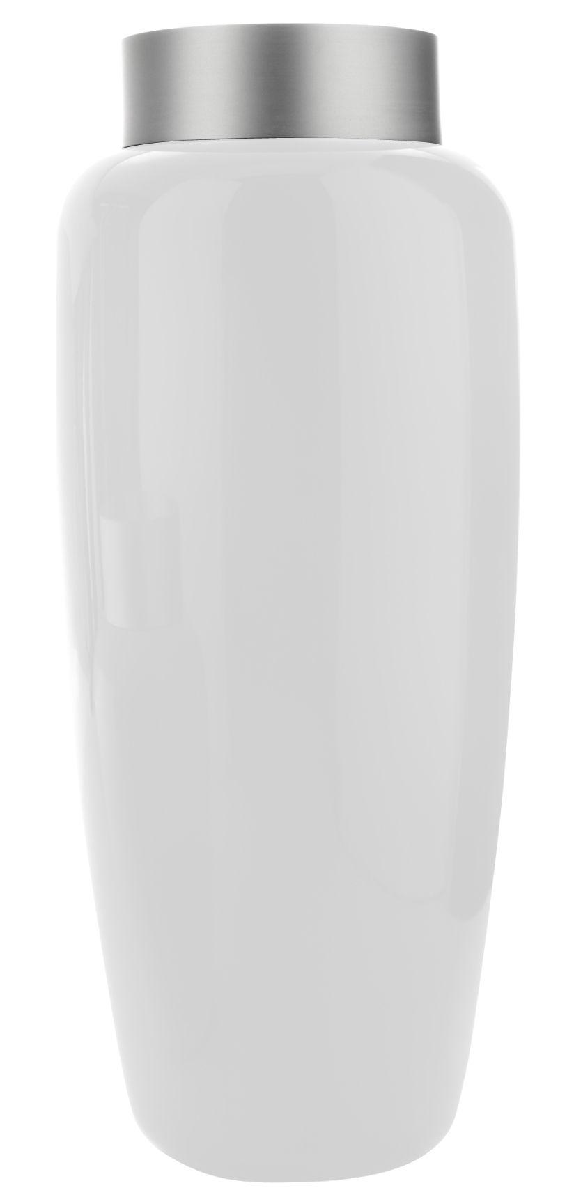 Jardin - Pots et plantes - Pot de fleurs Sevres High / H 100 cm - Serralunga - Blanc mat - Aluminium anodisé, Polyéthylène