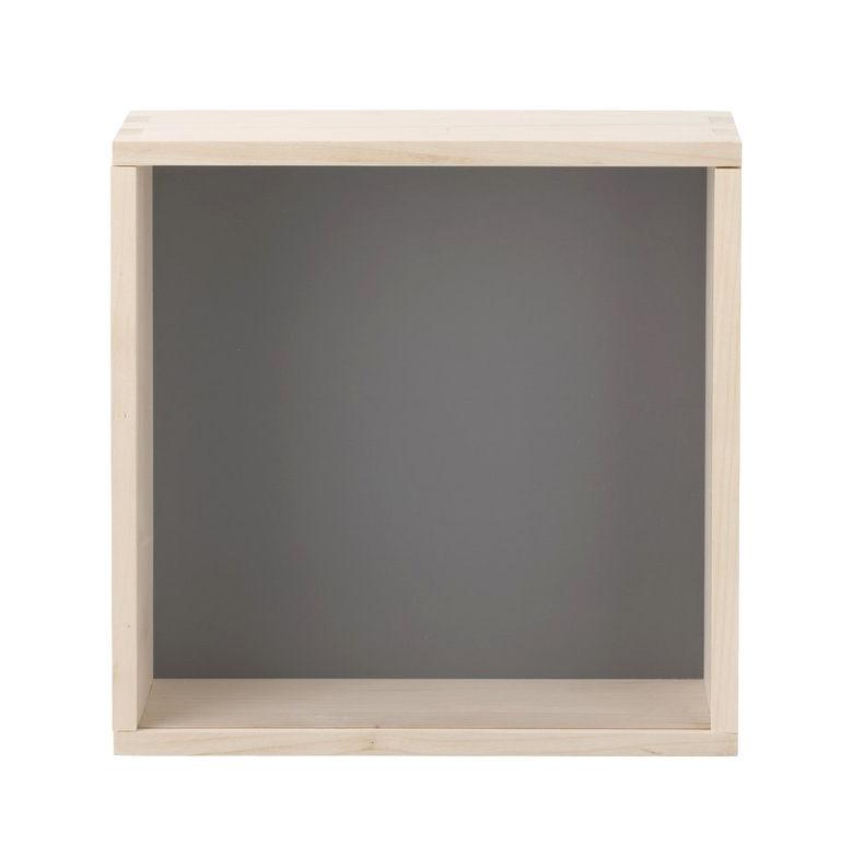 display box regal vitrine 30 x 30 cm grau by ferm living made in design. Black Bedroom Furniture Sets. Home Design Ideas
