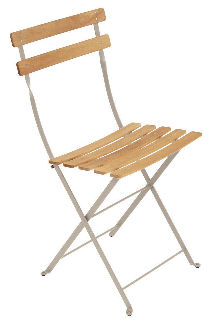 Arredamento - Sedie  - Sedia pieghevole Bistro / Metallo & legno - Fermob - Noce moscata - Acciaio verniciato, Hêtre traité