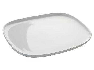 Tischkultur - Platten - Ovale Servierplatte - Alessi - Weiß -  L 31,5 x B 28 cm - Keramik im Steinzeugton