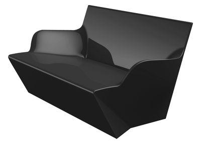 Image of Sofà Kami Yon - versione laccata di Slide - Laccato nero - Materiale plastico