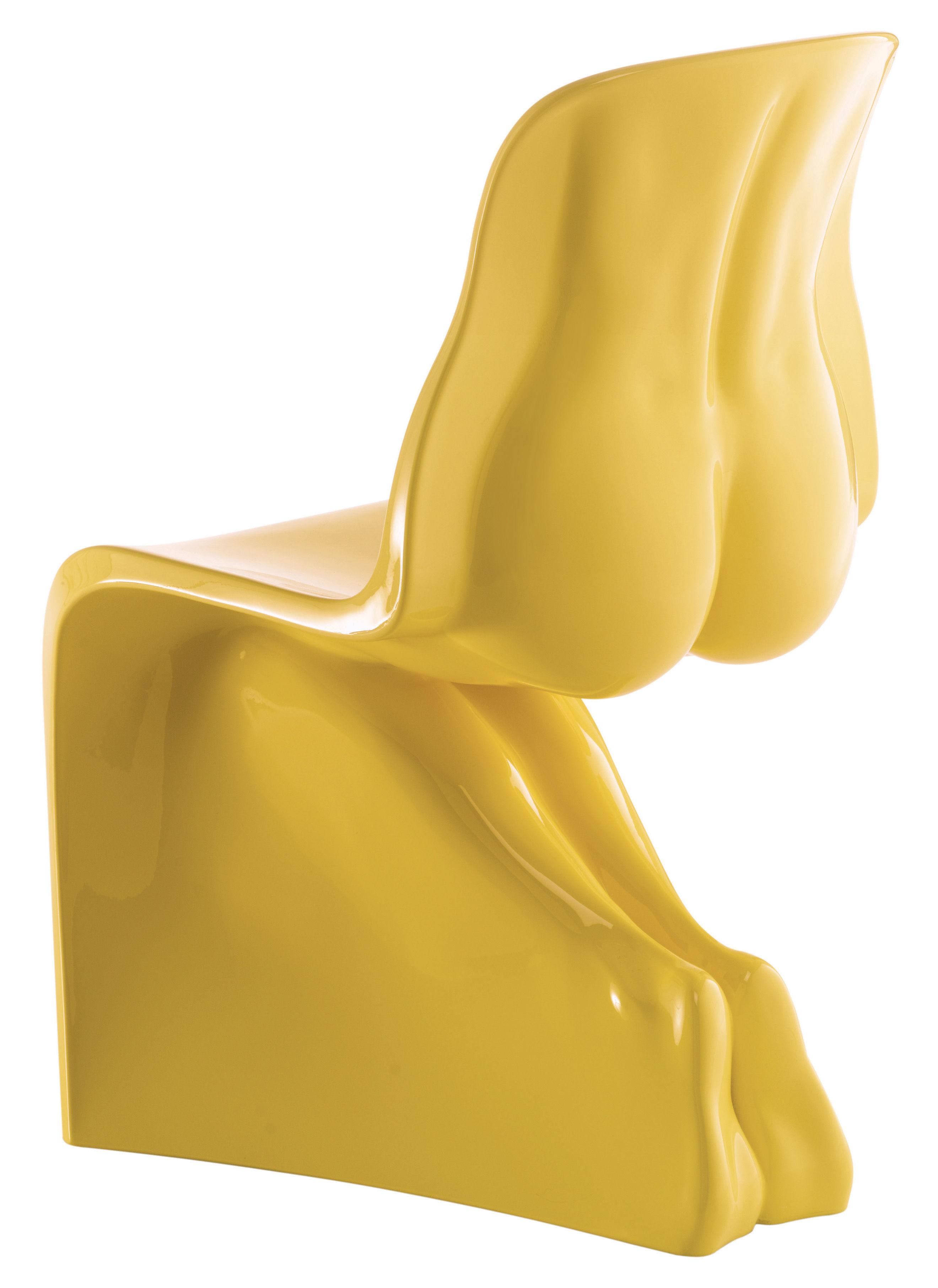 Möbel - Stühle  - Her Stuhl lackiert - Casamania - Gelb - Polyäthylen