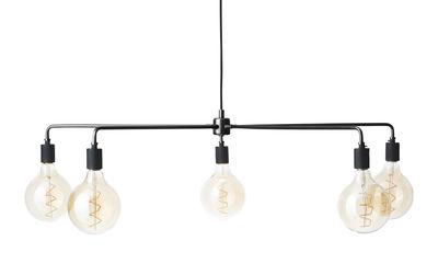 Luminaire - Suspensions - Suspension Chambers chandelier / Ø 96 cm - Menu - Noir - Acier peint, Porcelaine