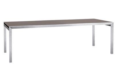 Table à rallonge Ec-Inoks Sifas - L 240 à 340 cm - Plateau chanvre ...