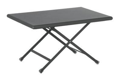 Table basse Arc en Ciel / Pliante - 50 x 70 cm - Emu gris en métal