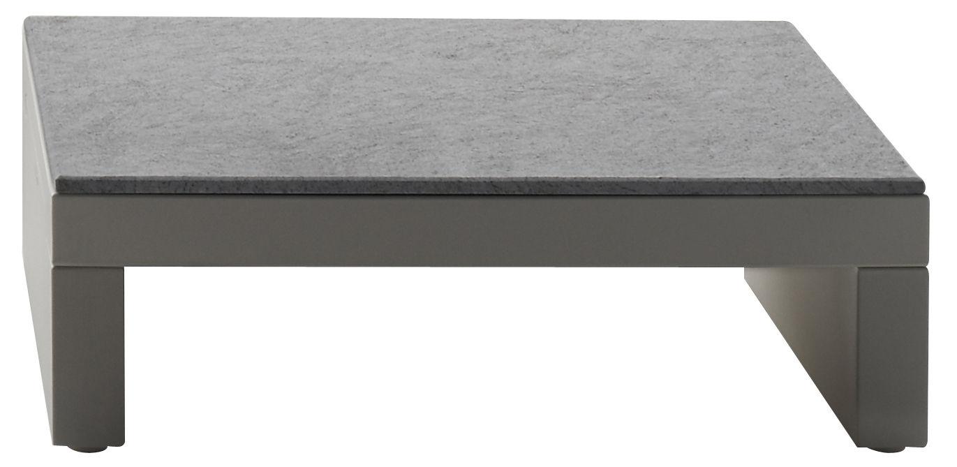 Mobilier - Tables basses - Table basse Bellini Hour - Serralunga - Structure blanche / Plateau laminé couleur ardoise  - Laminé, Polyéthylène