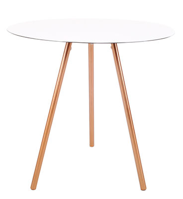 Table basse Elle / H 50 cm - XL Boom blanc/cuivre en métal