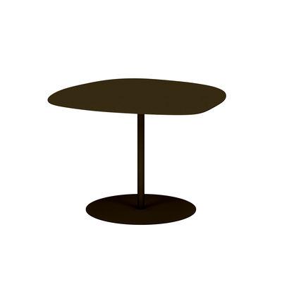 Table basse Galet n°3 OUTDOOR / 57 x 64 x H 37 cm - Matière Grise marron/métal en métal