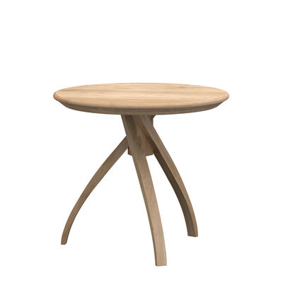 Table d'appoint Twist Small / Chêne massif - Ø 41 cm - Ethnicraft bois naturel en bois