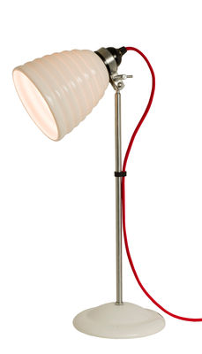 Lighting - Table Lamps - Hector Bibendum Table lamp - H 57 cm - Bone China - Adjustable by Original BTC - White / Red cable - China, Chromed metal