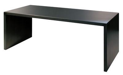 Table rectangulaire Big Irony Desk / 200 x 90 cm - Zeus noir en métal