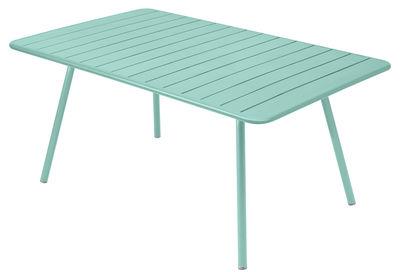 Table Luxembourg / 6 à 8 personnes - 165 x 100 cm - Fermob bleu lagune en métal