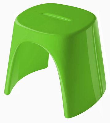 Tabouret empilable Amélie / Laqué - Plastique - Slide laqué vert en matière plastique