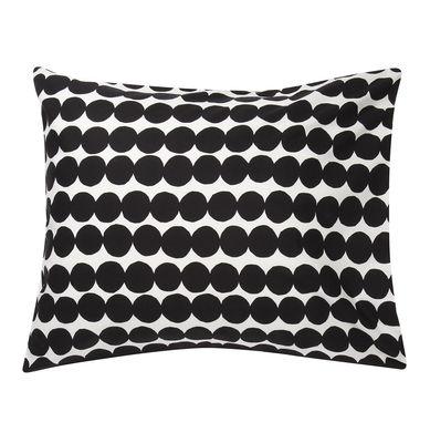 Taie d´oreiller Räsymatto / 65 x 65 cm - Marimekko blanc,noir en tissu