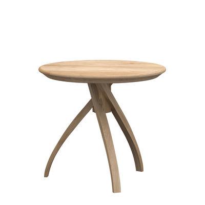 Arredamento - Tavolini  - Tavolino d'appoggio Twist Small - / Rovere massello - Ø 41 cm di Ethnicraft - Ø 41 cm / Rovere - Rovere massello