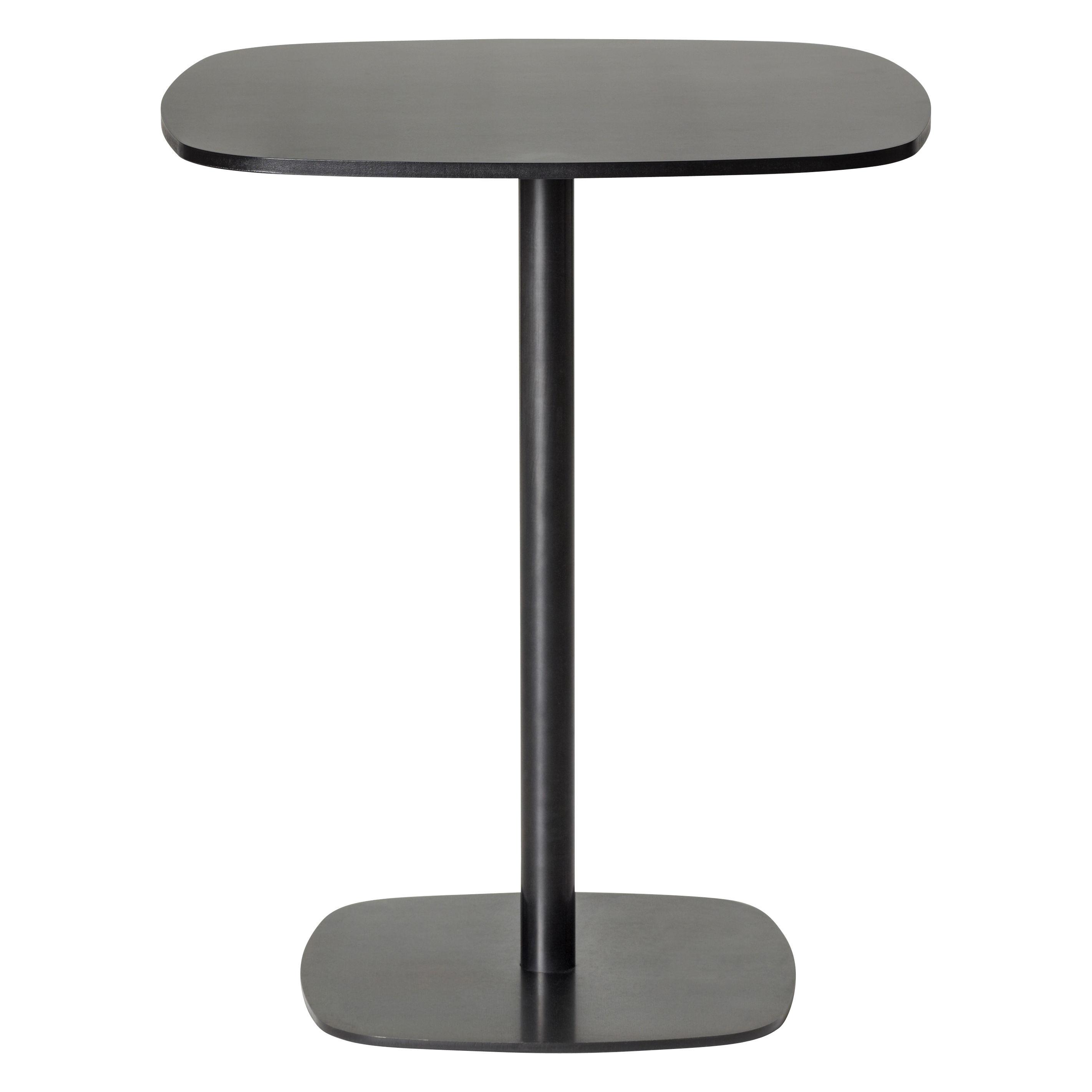 Arredamento - Tavoli alti - Tavolo bar alto Nobis - H 110 cm - 60x60 cm di Offecct - Nero - Compensato compatto, metallo laccato