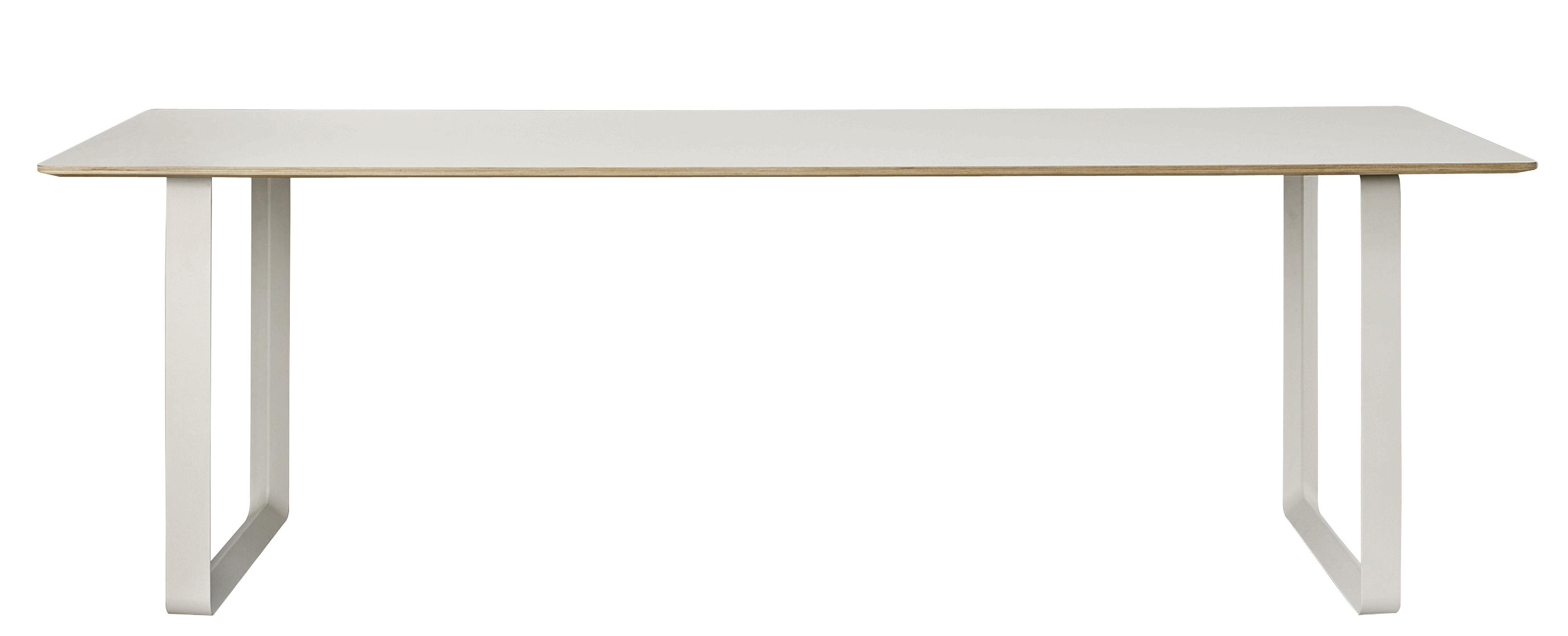 Arredamento - Tavoli - Tavolo 70-70 XL / 255 x 108 cm - Muuto - Grigio - Alluminio, Compensato, Linoleum