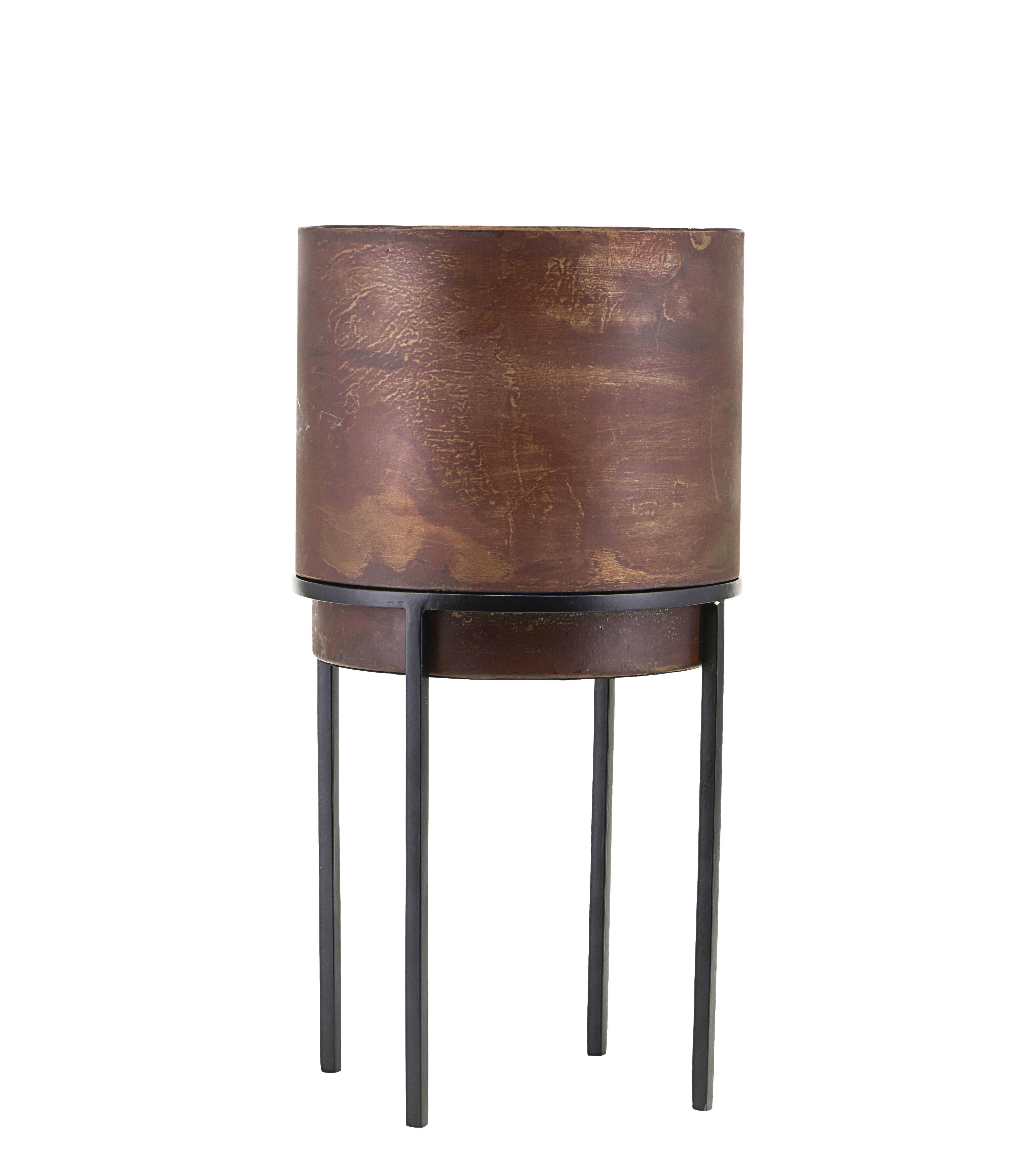 Outdoor - Vasi e Piante - Vaso per fiori Nian Large - / Con piedi - Ø 20 x H 40 cm di House Doctor - H 40 cm / Ruggine - Acciaio