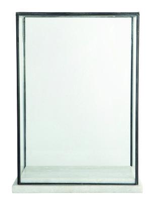 Déco - Objets déco et cadres-photos - Vitrine Marbel / Verre & marbre - H 38 cm - House Doctor - Marbre blanc & métal - Marbre, Métal, Verre