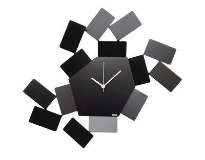 Decoration - Wall Clocks - La Stanza dello Scirocco Wall clock - W 46 x H 33,5 cm by Alessi - Black - Steel