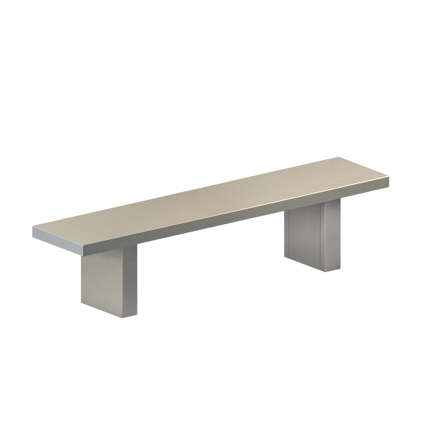 Furniture - Benches - Tommaso OUTDOOR Bench - / L 160 cm - Painted steel by Zeus - L 160 cm / Cement grey - Painted phosphated steel