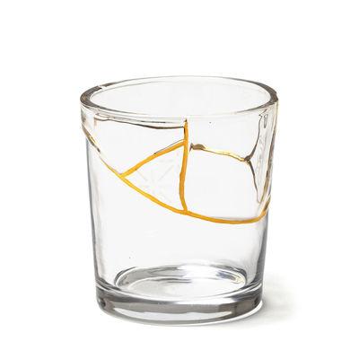 Tavola - Bicchieri  - Bicchiere Kintsugi n°3 - / Vetro & oro fino di Seletti - n°3 / Trasparente & oro - Oro fino, Vetro