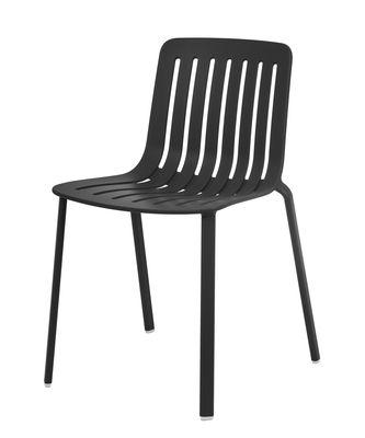 Chaise empilable Plato / Aluminium - Magis noir en métal