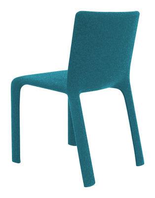 Chaise rembourrée Joko Kristalia bleu en tissu