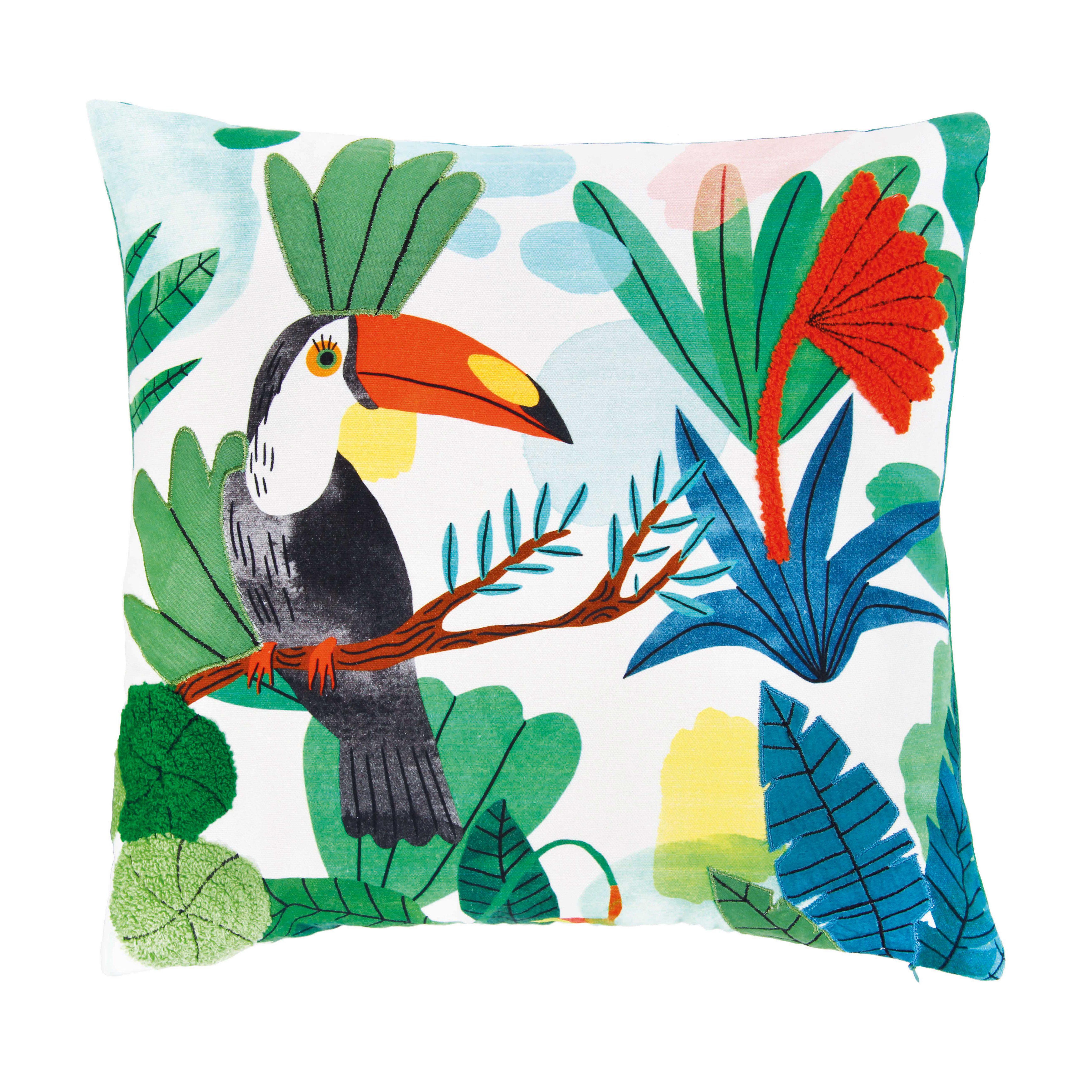 Decoration - Cushions & Poufs - Bodil Cushion - / 40 x 40 cm - Toucan by & klevering - 40 x 40 / Toucan - Cotton