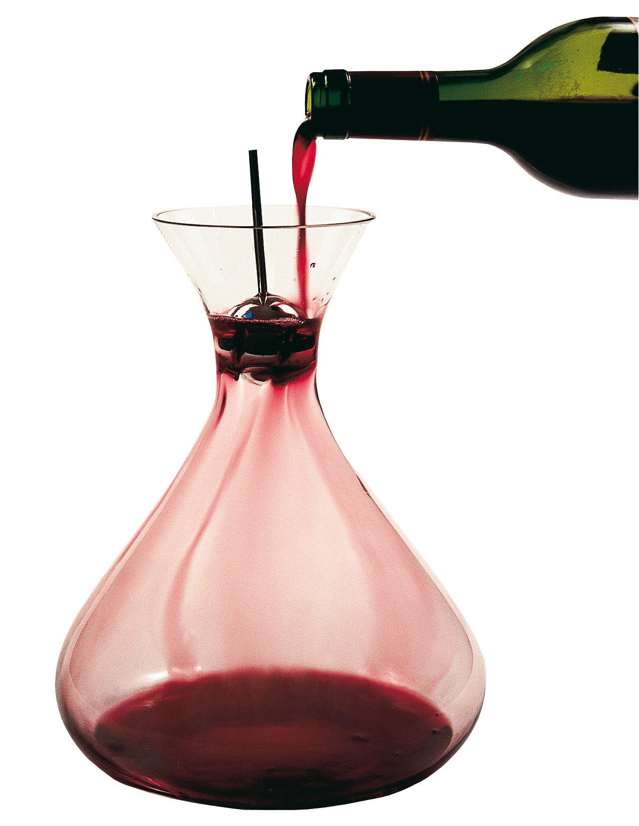 Tavola - Caraffe e Decantatori - Decantatore Developer 1 di L'Atelier du Vin - Trasparente/Acciaio - Acciaio inossidabile, Cristallo soffiato a bocca