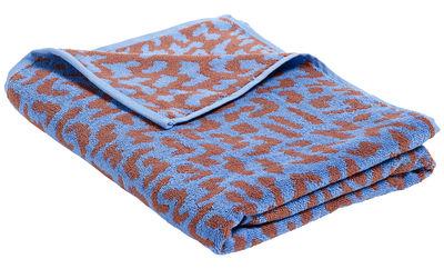 Accessoires - Accessoires salle de bains - Drap de bain He She It / by Nathalie du Pasquier - 170 x 90 cm - Hay - It / Bleu ciel & rouge - Coton