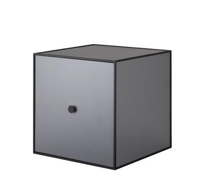 Etagère Frame Boîte 35x35 cm by Lassen noir,gris foncé en bois