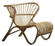 Chaise Fox Lounge Réédition 1936 Sika Design naturel en fibre végétale